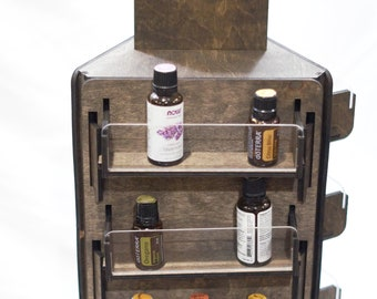 Essential Oil Display Rack/Organizer Retail Display Rack     Stickers, and More!! 12 Shelves