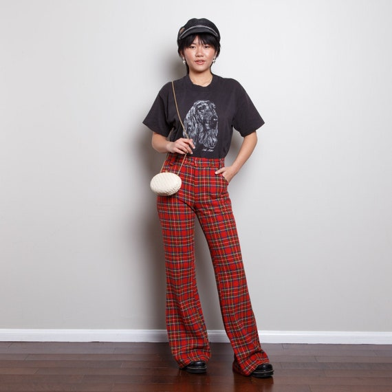 Plaid 70s Bell Bottoms