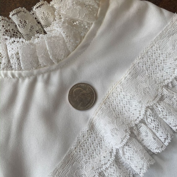 70s/80s Victorian Style Blouse - image 7