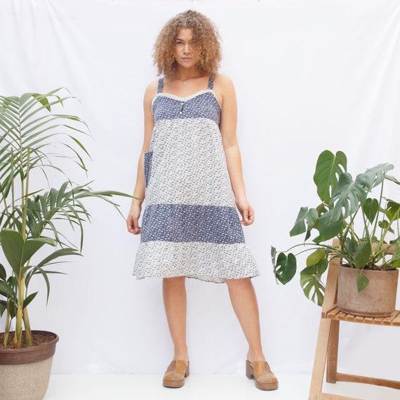 Vintage Floral Midi Sun Dress