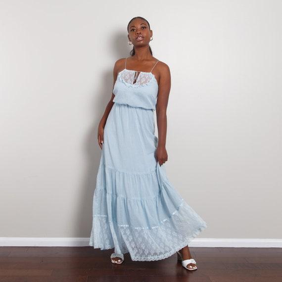 60s-70s Bohemian Peasant Dress