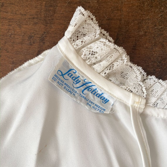 70s/80s Victorian Style Blouse - image 5