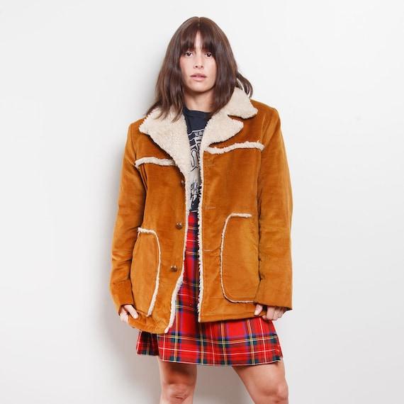 Vintage Suede Sherpa Jacket