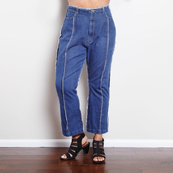 90s Distressed Flair Jeans