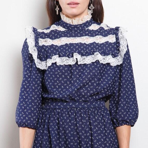 Vintage Western Midi Dress - image 4