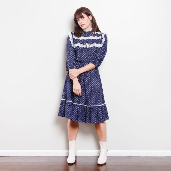 Vintage Western Midi Dress - image 1