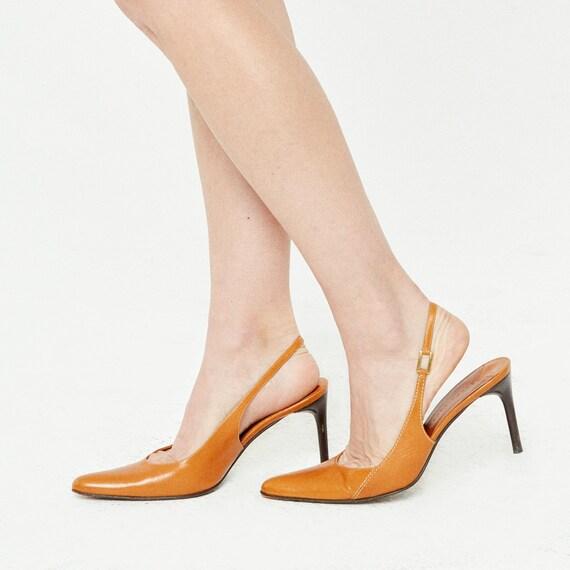 Vintage Leather Ralph Lauren Sling Heel