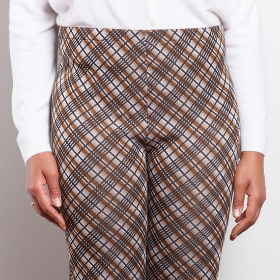 70s Plaid Cropped Bell Bottoms - image 6