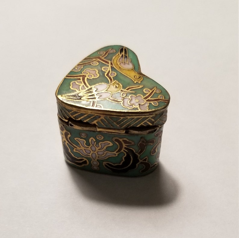 Small Vintage Ring Boxes; Antique Ring Box; Vintage Jewelry Box; Engagement Ring Box; Display Box; Vintage Enamel Ring Box; Engagement Gift
