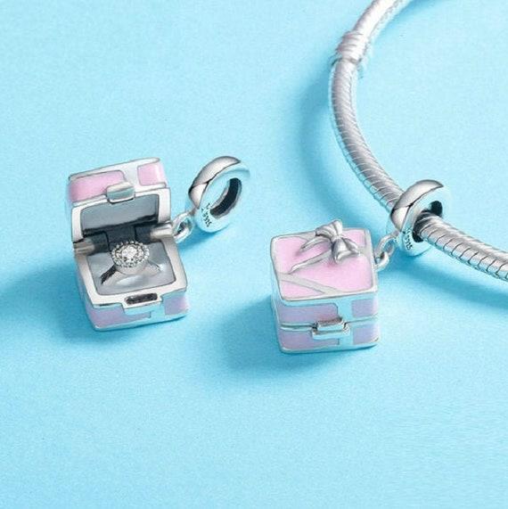 Romantic Pink Box Marry Me Surprise Proposal Charm Pendant   Etsy