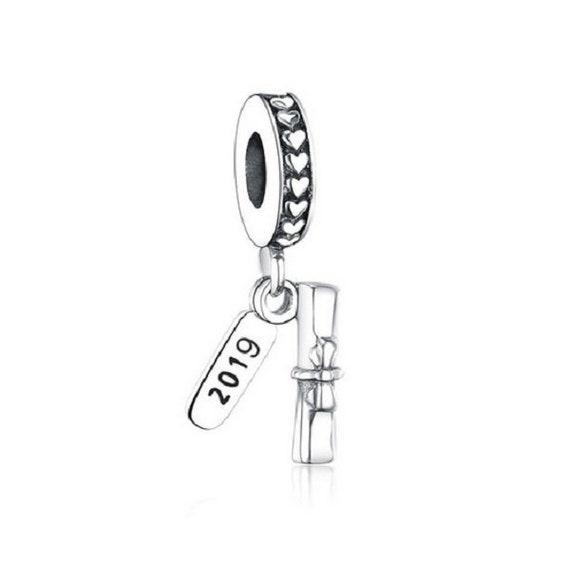 2020 Graduate Student Graduation Diploma Authentic 925 Sterling silver, fit  Authentic Pandora Charm Bracelet,