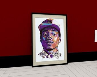 68acd830666cf Chance The Rapper Prinrt Art Poster