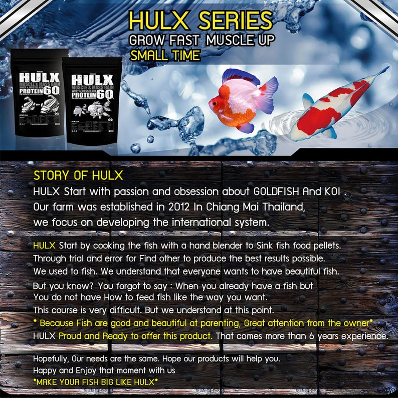 HULX Koi Food Sinking Pellets for Big Muscle & Mass Gain Whey Mixed High  Protein 60% Fish Food Growth Fast Formula 1 5 Lb (800 Gram ) 2mm,