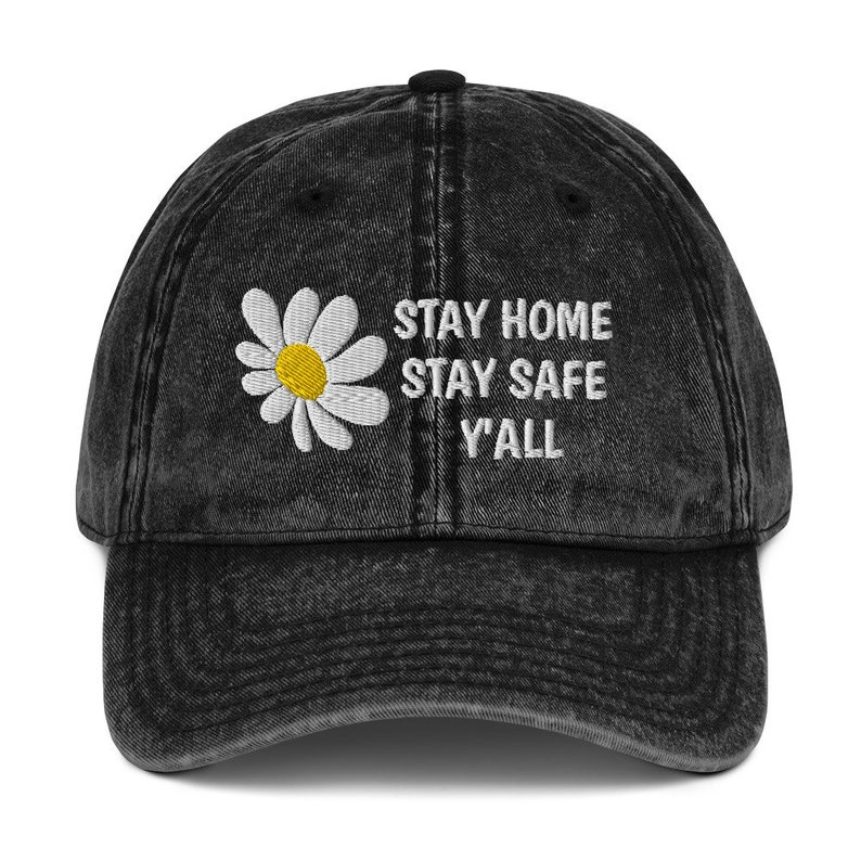 Stay Home Hippie Embroidered Vintage 90's Washed Out image 0