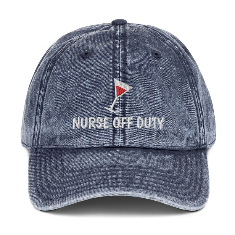 Retired Nurse Gift Embroidery Vintage 90s Cotton Twill Cap by YassyDesigns