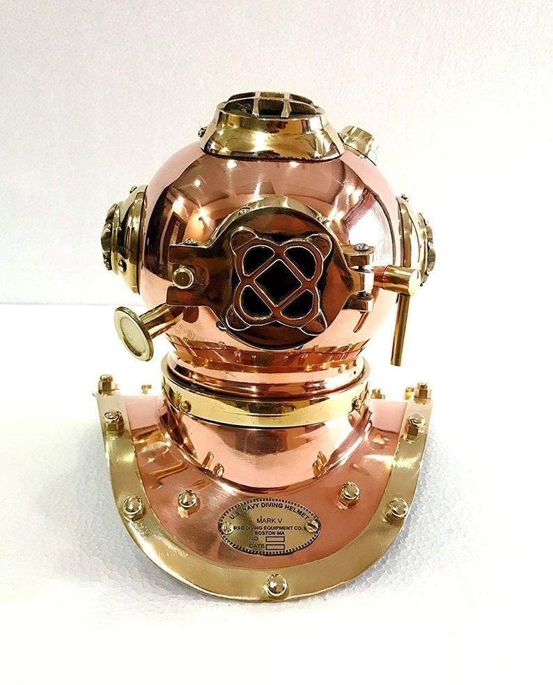 U.S Navy Mark V Mini Diving Helmet Sea Divers Helmet Solid Brass /& Copper