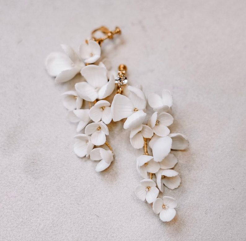 Blüten Ohrringe Braut