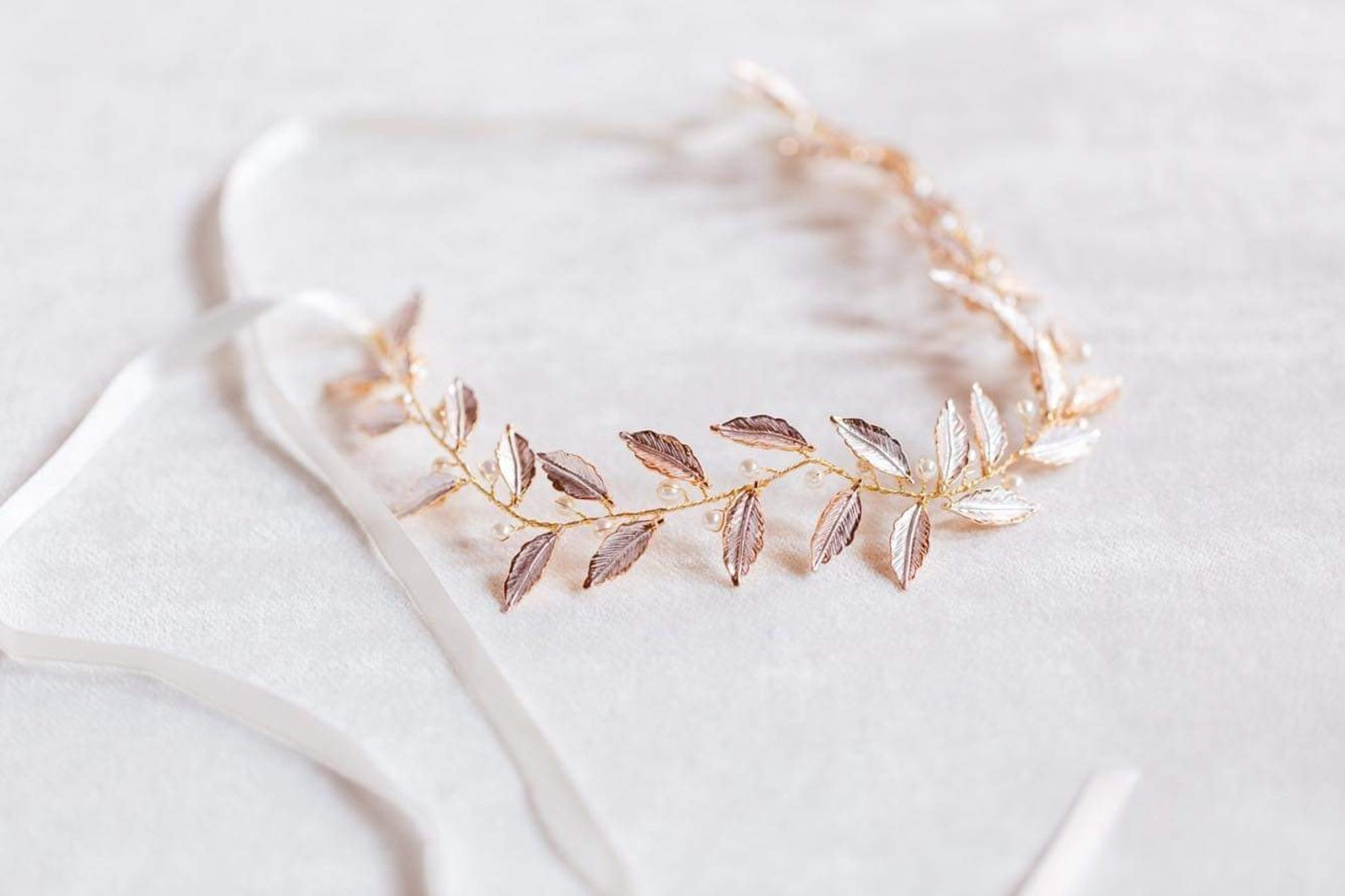 Braut Haarband Rosegold
