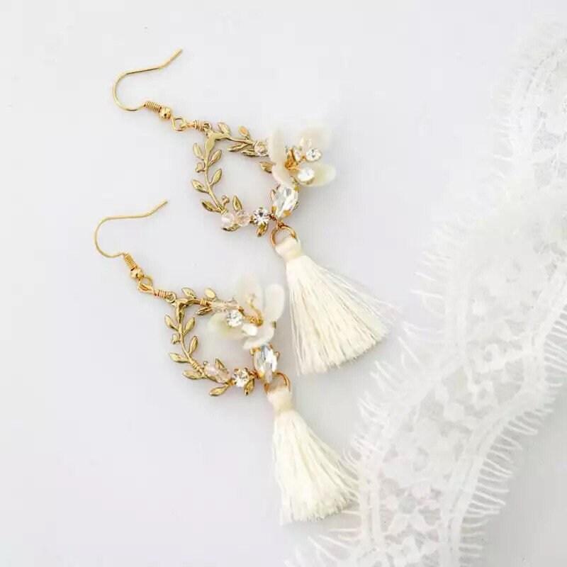 Ohrringe mit Quasten für die Boho Braut