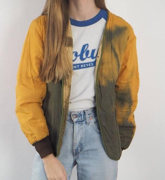 Vintage Tie Dye Army Liner Jacket 03