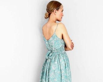 5b463aed59a Silk Maxi Dress with Belt   Lining