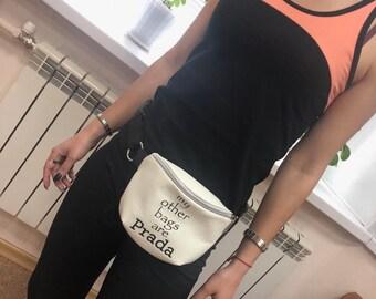 2f768668d843 Fanny pack my bag Prada Belt bag waist bag fanny pack Bum bag bum bag fanny  pack belt pouch hip bag belt bag women Fanny pack