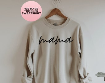 Mom Sweatshirt Custom Sweater Mom Since Mothers Gift Mothers Outfit Family Outfits Women Sweatshirt Announcement Sweater ANM3021