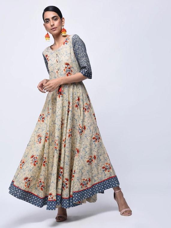 Designer Indian Women Dress Ethnic Party Wear Kurti Bollywood Printed Anarkali