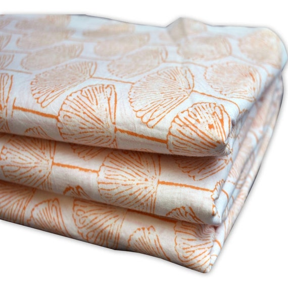 5 yard Indian Cotton Hand Block Print Natural Dyed Voile Running Loose Fabric