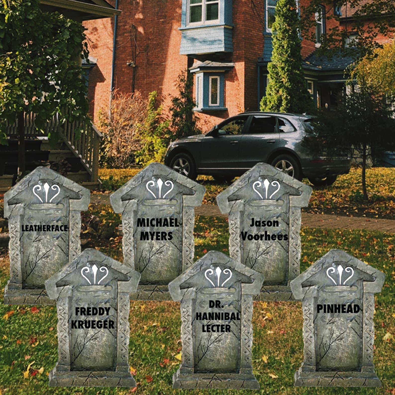 Cardboard Halloween Tombstones