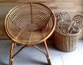 Handmade Rattan Bamboo Chair, Rattan Furniture, Rattan chair, Mid Century chair, Modern chair, Wicker chair, Rattan arm chair