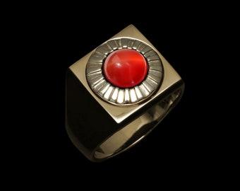 Customizable Jewel Ornament - Brass Square Ring