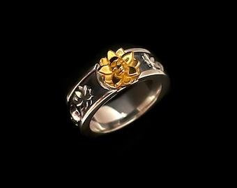 Bushido Band Silver/Brass Ring