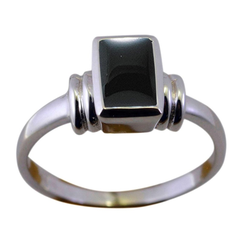 Turkish Handmade Jewelry Sterling Silver 925 Onyx Ring Ladies 6 7 8 9