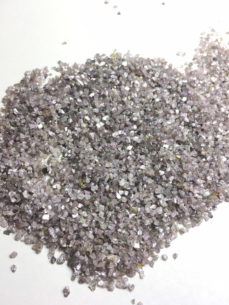 1 Carat Natural Pink Rough Diamond Dust,pink Uncut Raw Diamond