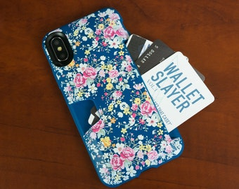f7989375d3 Silk iPhone X/XS Wallet Case - Custom Floral Design - Wallet Slayer Vol. 1  [Slim + Protective] Credit Card Holder for Apple iPhone 10