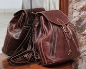 Womens leather backpack Womens brown leather backpack Leather backpack Backpack Purse Moroccan Leather bag Gift for her