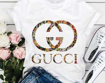 1ee0275c Gucci Floral t shirt Gucci Gift Gucci shirt Gucci Inspired Gucci birthday  Louis Vuitton Shirt Chanel Versace Mom Mama Aunt Floral t shirt