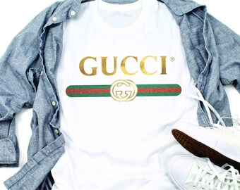 110c815a Gucci Unisex T shirt Gucci Gift Gucci shirt Gucci Inspired Gucci birthday  Louis Vuitton Shirt Chanel Versace Mom Mama Aunt Floral t shirt