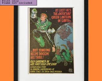102f6580cd19 1990 Green Lantern Guy Gardner comic vintage advertisement print