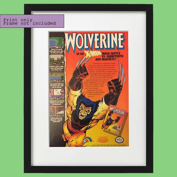 1991 Wolverine X Men Nintendo Nes Video Game Vintage Etsy