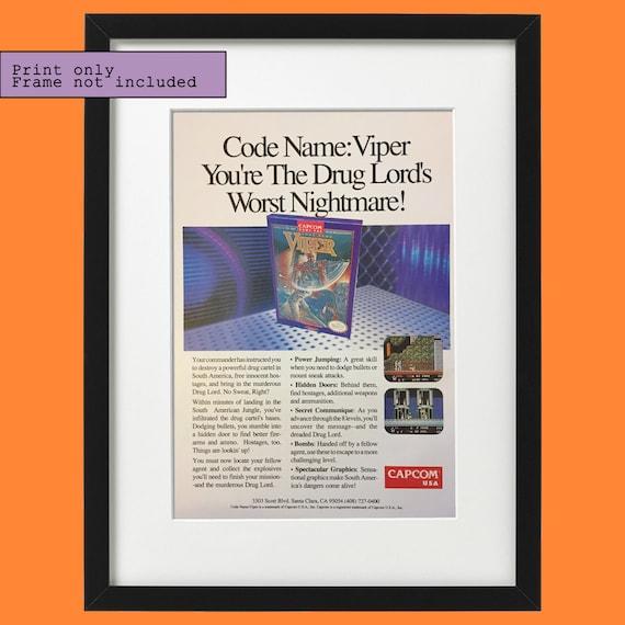 1990 Code Name Viper Capcom Nintendo Nes Video Game Vintage Etsy