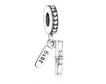 db0e1a674 2019 Graduate Student Graduation Diploma Authentic 925 Sterling silver, Pandora  Charm Bracelet, Free Shipping.