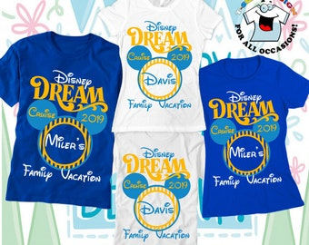523dcc8c Disney Cruise Shirts Disney Dream Cruise family Vacation t-shirts  Personalized family shirts Vacation Family Disney ears Family holiday tees