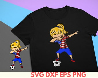 3eb525775 Soccer Girl SVG Dabbing Soccer shirt for Girls Funny Dabbing soccer SVG  Digital Download