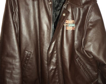 9dcc0217a89 RARE Crosby Stills Nash   and Young CSNY Leather Tour Jacket Coat - ONLY  Given to Roadies and Band Members