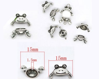 - Charming Beads HA07990 Frog Pack of 20 x Antique Silver Tibetan 22mm Charms -