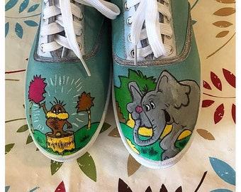 36b95388fd Dr Seuss character custom shoes