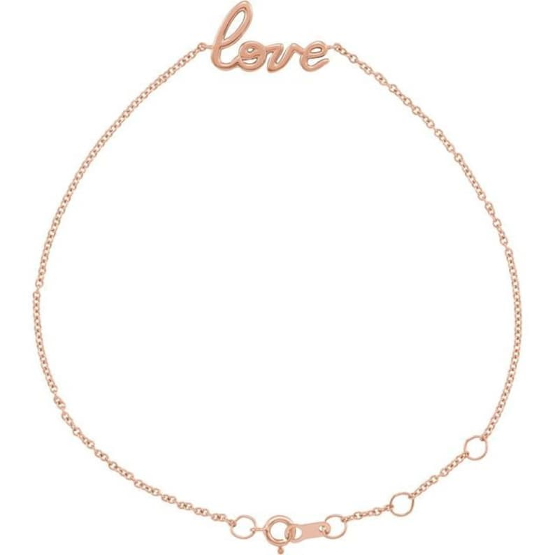 14K Love 6 12-7 12 Bracelet