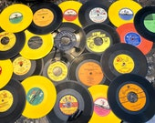6-7 inch Vinyl Records for Crafting and Upcycling - Random Lot of 20